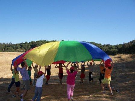 Activitats amb paracaigudes