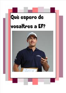 Expectatives d'un mestre d'EF