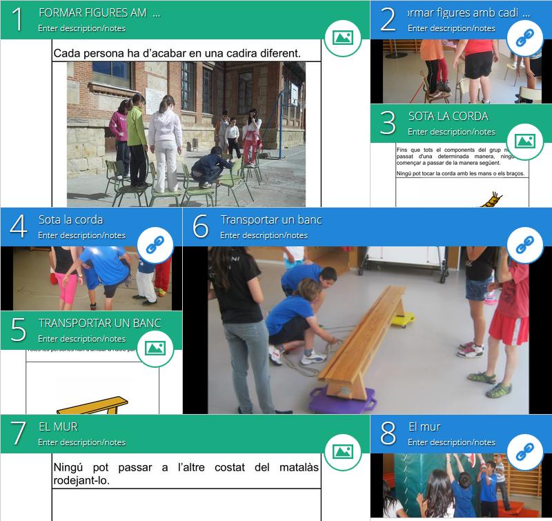 Activitats col·laboratives a educació física