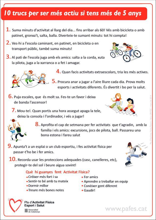 10 trucs per ser més actius