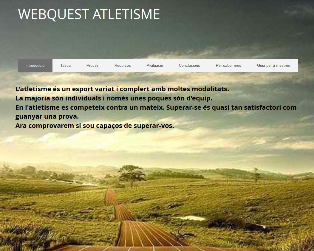 Webquest sobre l'atletisme