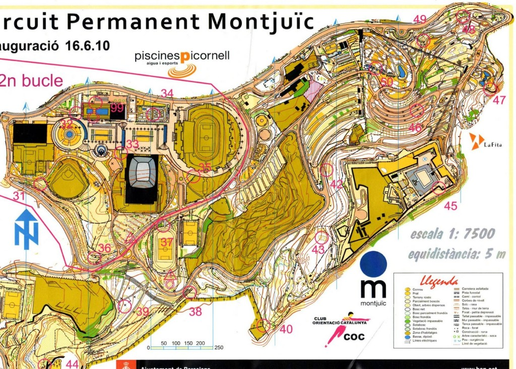 Circuit permanent d'orientació a la muntanya de Montjuïc