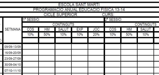 Graella programació anual EF (actualització curs 2014-2015)
