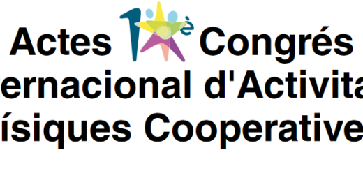 Actes 10è Congrés internacional d'activitats físiques cooperatives