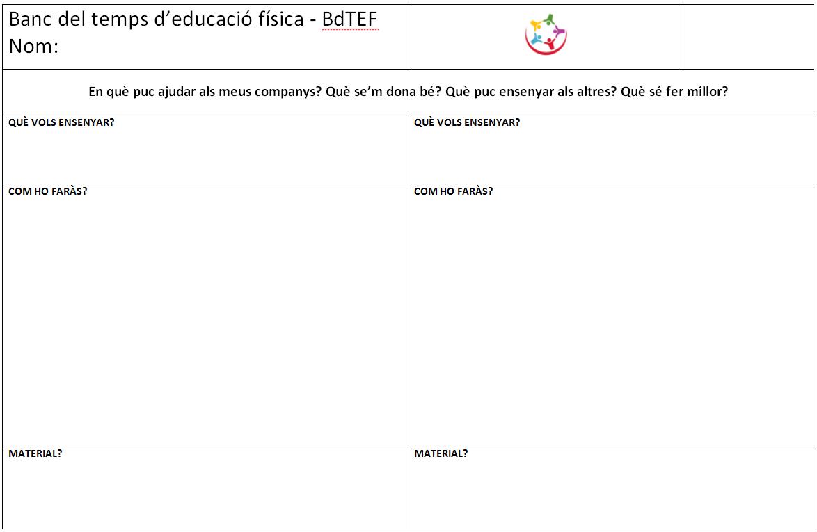 Banc del temps d'educació física - BdTEF