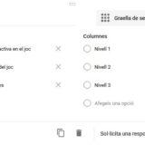 Avaluar rúbriques de forma senzilla fent servir formularis de Google